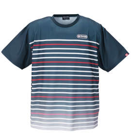OUTDOOR PRODUCTS DRYメッシュパネルボーダー半袖Tシャツ